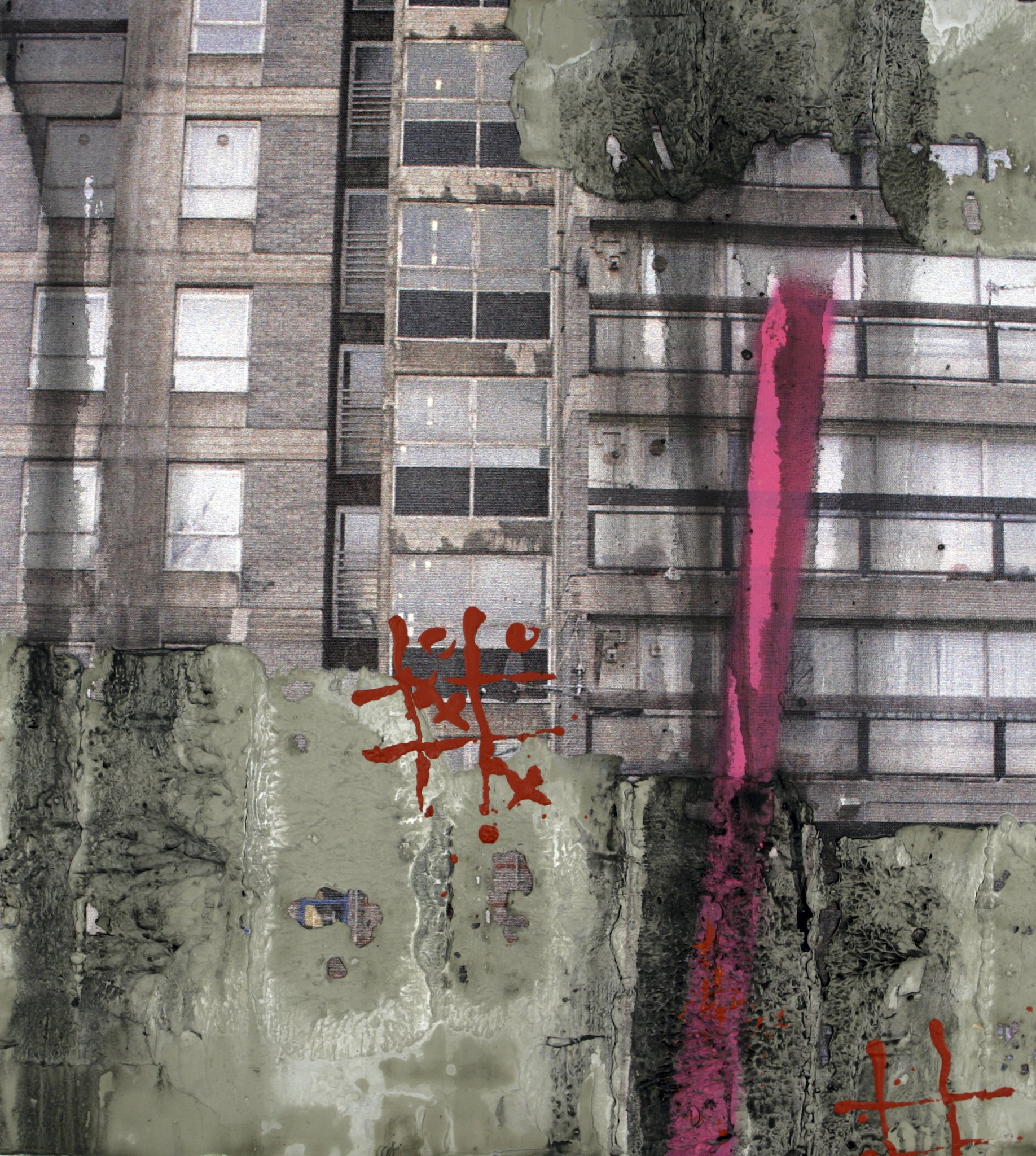 Lot 16 - 'Study for Durrington Towers I' by David Hepher