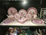 Lot 11 - 2 Masons plates, Masons jug,