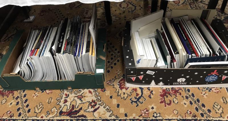 Lot 1328 - 2 boxes of magazines and catalogues on luxury goods including Jaeger-Lecoultre, IWC,