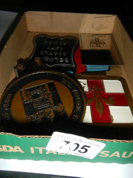 Lot 705 - A quantity of Lincolnshire related car badges.