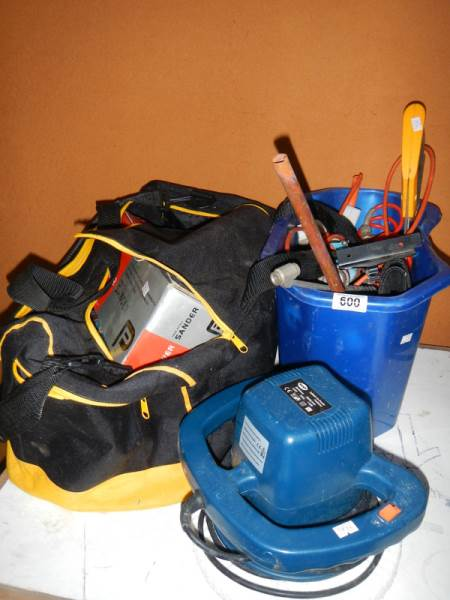 Lot 600 - A quantity of miscellaneous electric hand tools.