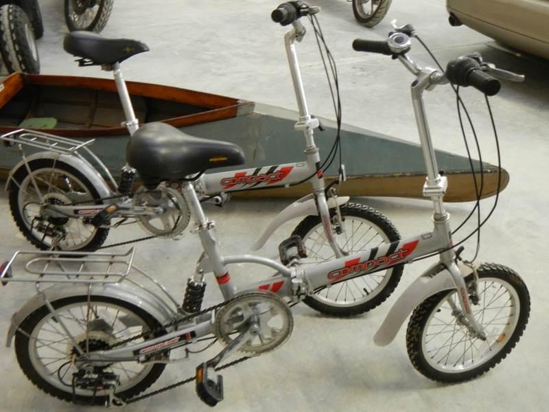 Lot 734 - 2 compact folding bikes.