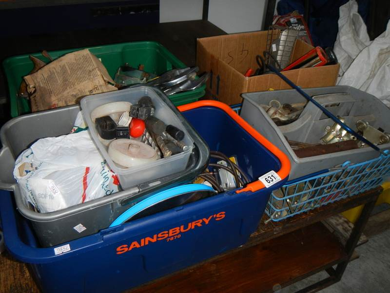 Lot 631 - A large quantity of miscellaneous including safety equipment etc.