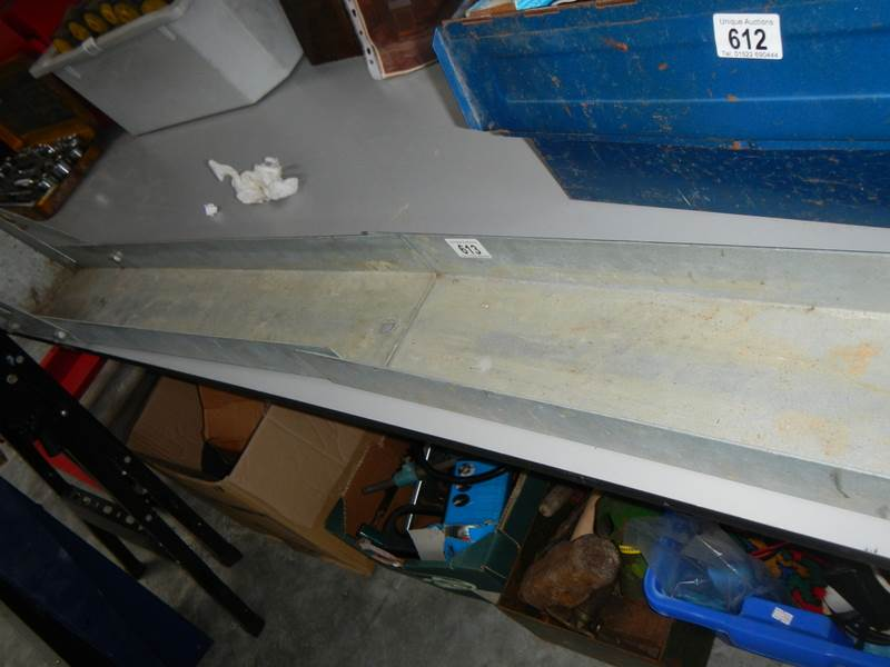 Lot 613 - A motorcycle centre trailer ramp.