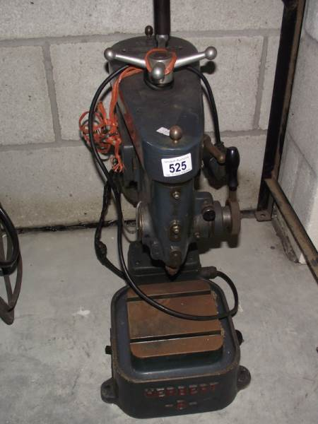 Lot 525 - A single phase pedestal drill.