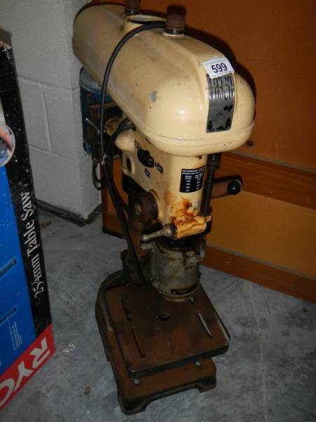 Lot 599 - A FOBCO industrial pedestal drill.