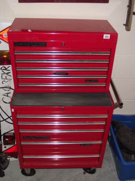 Lot 554 - A Clarke HD plus tool cabinet.