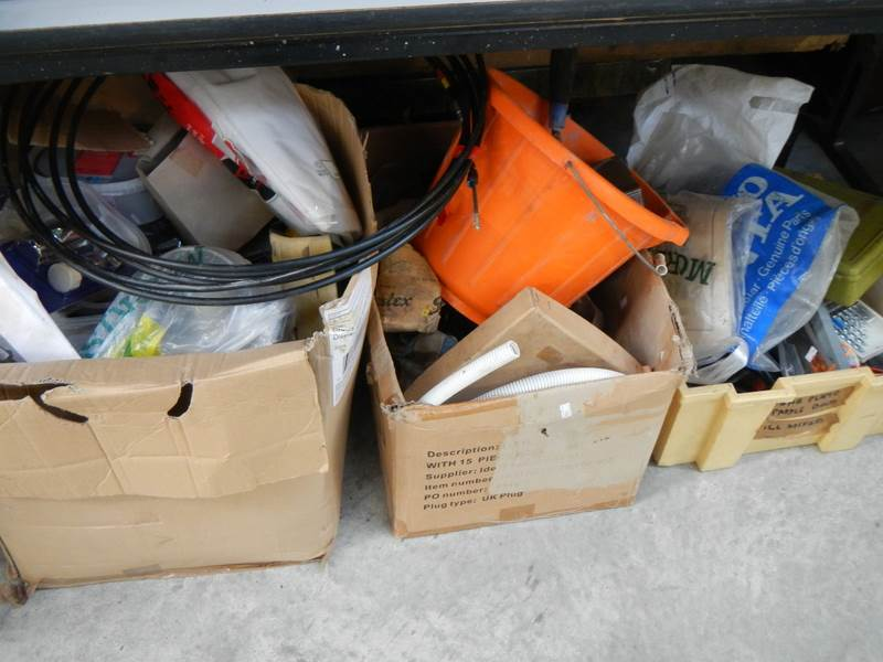 Lot 623 - 3 large boxes of miscellaneous tools including electrical, plumbing etc.