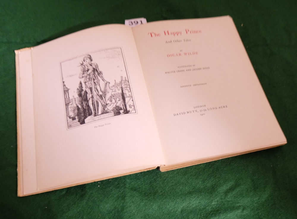 Lot 391 - BOOK - Oscar Wilde, The Happy Prince and Other Tales, 1910, illustrated