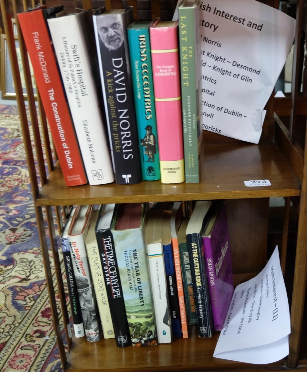"Lot 273 - 2 Groups of Books – ""Irish Interest and History"" – David Norris, The Last Knight – Desmond"