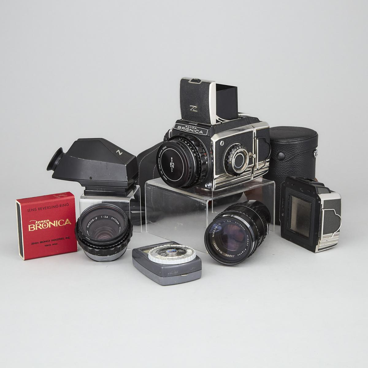 Lot 116 - Zenza Bronica S2 Camera Set, c.1968, camera length 6.9 in — 17.5 cm