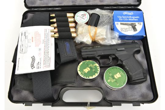 """A  177"""" Walther Mod CP99 CO2 pistol, number J34308871, New"""