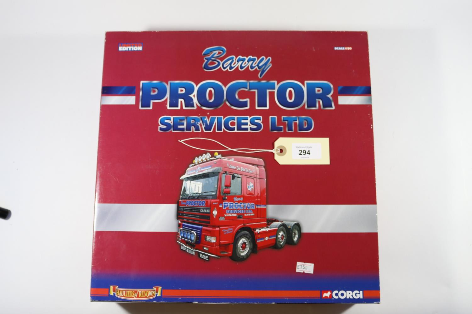 Lot 294 - A Corgi Limited Edition 'Hauliers of Renown' series boxed Set. 'Barry Proctor Services Ltd'. (