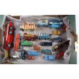 Lot 295 - 22x vehicles by Corgi, Spot On, Budgie, etc. 17x Corgi Toys including; Pathfinder Airport Crash