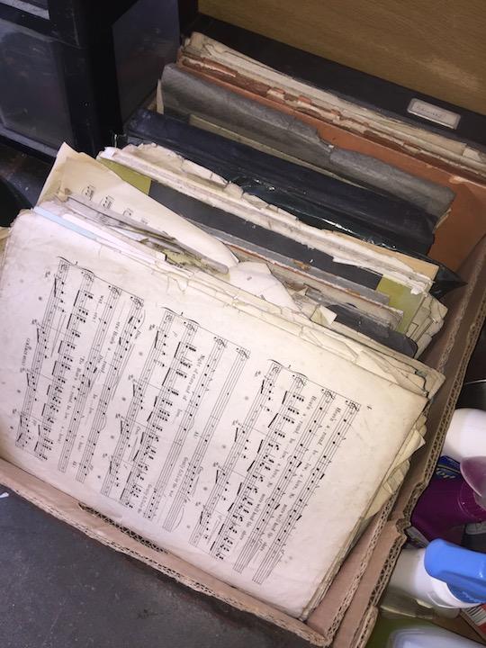 Lot 222 - A box of sheet music.