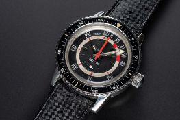 A RARE GENTLEMAN'S STAINLESS STEEL FAVRE LEUBA BATHY 160 DEPTH GAUGE DIVERS WRIST WATCH CIRCA