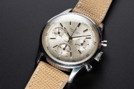 A RARE GENTLEMAN'S STAINLESS STEEL BREITLING TOP TIME CHRONOGRAPH WRIST WATCH CIRCA 1966, REF.