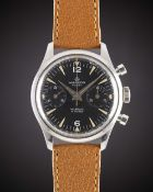 A GENTLEMAN'S STAINLESS STEEL MARDON FLEET CHRONOGRAPH WRIST WATCH CIRCA 1960s Movement: 17J, manual
