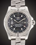 A GENTLEMAN'S STAINLESS STEEL BREITLING SUPEROCEAN STEELFISH BRITISH MILITARY ROYAL MARINES COMMANDO