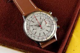 A RARE GENTLEMAN'S STAINLESS STEEL BREITLING LIP CHRONOMAT CHRONOGRAPH WRIST WATCH CIRCA 1967,