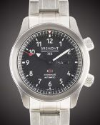 A GENTLEMAN'S STAINLESS STEEL BREMONT MBII XIX SC019 AUTOMATIC CHRONOMETER BRACELET WATCH DATED