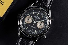 A RARE GENTLEMAN'S STAINLESS STEEL BREITLING CHRONO-MATIC CHRONOGRAPH WRIST WATCH CIRCA 1977, REF.