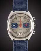 "A GENTLEMAN'S ""NOS"" BREITLING DATORA CHRONOGRAPH WRIST WATCH CIRCA 1975, REF. 2018 Movement: 17J,"