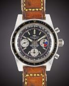 A GENTLEMAN'S STAINLESS STEEL JAQUET DROZ CARIBBEAN 200 DIVERS CHRONOGRAPH WRIST WATCH CIRCA 1970,