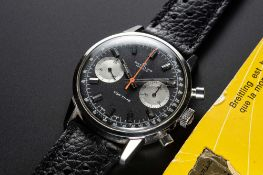 A GENTLEMAN'S STAINLESS STEEL BREITLING TOP TIME CHRONOGRAPH WRIST WATCH DATED 1972, REF. 2002-33 ""
