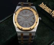 "A RARE GENTLEMAN'S LARGE SIZE STEEL & GOLD AUDEMARS PIGUET ROYAL OAK ""JUMBO"" BRACELET WATCH CIRCA"