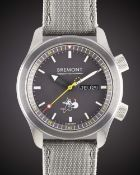 A GENTLEMAN'S STAINLESS STEEL BREMONT ALTITUDE L.E. AUTOMATIC CHRONOMETER WRIST WATCH DATED 2013,