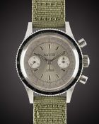 A GENTLEMAN'S STAINLESS STEEL FANTOME GALLET MULTICHRON PILOT CHRONOGRAPH WRIST WATCH CIRCA 1960s