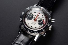 A VERY RARE GENTLEMAN'S STAINLESS STEEL NIVADA CHRONOMASTER AVIATOR SEA DIVER CHRONOGRAPH WRIST