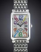 A MID SIZE STAINLESS STEEL FRANCK MULLER COLOR DREAMS BRACELET WATCH CIRCA 2000s, REF. 952 QZ COL