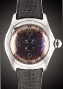 "A GENTLEMAN'S STAINLESS STEEL CORUM BUBBLE CASINO ""ROULETTE"" AUTOMATIC WRIST WATCH DATED 2003,"