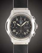 A GENTLEMAN'S STAINLESS STEEL HUBLOT MDM GENEVE AUTOMATIC CHRONOGRAPH WRIST WATCH CIRCA 2000, REF.