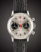 A GENTLEMAN'S STAINLESS STEEL BREITLING TOP TIME CHRONOGRAPH WRIST WATCH CIRCA 1969, REF. 2002-33