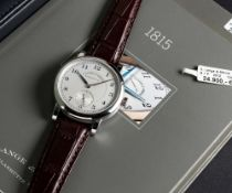 A FINE GENTLEMAN'S PLATINUM A. LANGE & SOHNE GLASHUTTE 1815 WRIST WATCH DATED 2014, REF. 233.025 /
