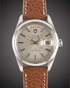 A GENTLEMAN'S LARGE SIZE STAINLESS STEEL ROLEX TUDOR OYSTER PRINCE DATE + DAY WRIST WATCH CIRCA