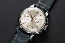 A VERY RARE GENTLEMAN'S LARGE SIZE STAINLESS STEEL LONGINES 30CH FLYBACK CHRONOGRAPH WRIST WATCH