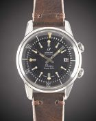 A GENTLEMAN'S STAINLESS STEEL ENICAR SHERPA SUPER DIVE WRIST WATCH CIRCA 1960s, REF. 145/006 WITH
