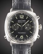 A GENTLEMAN'S STAINLESS STEEL PANERAI RADIOMIR RATTRAPANTE CHRONOGRAPH WRIST WATCH DATED 2008,
