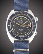 A GENTLEMAN'S STAINLESS STEEL AQUASTAR BENTHOS 500 DIVERS TIMER WRIST WATCH CIRCA 1970, REF. 1002