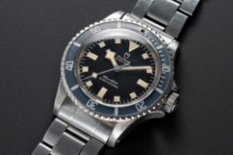 """A RARE GENTLEMAN'S STAINLESS STEEL ROLEX TUDOR OYSTER PRINCE """"SNOWFLAKE"""" SUBMARINER WRIST WATCH"""