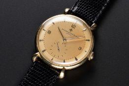 A RARE GENTLEMAN'S LARGE SIZE 18K SOLID GOLD VACHERON & CONSTANTIN WRIST WATCH CIRCA 1950, REF. 4126
