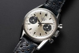 A VERY RARE GENTLEMAN'S STAINLESS STEEL HEUER CARRERA CHRONOGRAPH WRIST WATCH CIRCA 1969, REF.