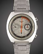 A GENTLEMAN'S STAINLESS STEEL LONGINES NONIUS CHRONOGRAPH BRACELET WATCH DATED 1972, REF. 8271 2