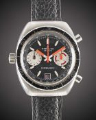 A GENTLEMAN'S STAINLESS STEEL BREITLING CHRONO-MATIC CHRONOGRAPH WRIST WATCH CIRCA 1969, REF. 2112-