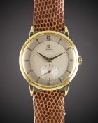 """A GENTLEMAN'S 18K SOLID GOLD OMEGA AUTOMATIC WRIST WATCH CIRCA 1950, REF. 2659 Movement:17J, """""""