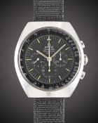 A RARE GENTLEMAN'S STAINLESS STEEL ROYAL RHODESIAN AIR FORCE MILITARY OMEGA SPEEDMASTER PROFESSIONAL